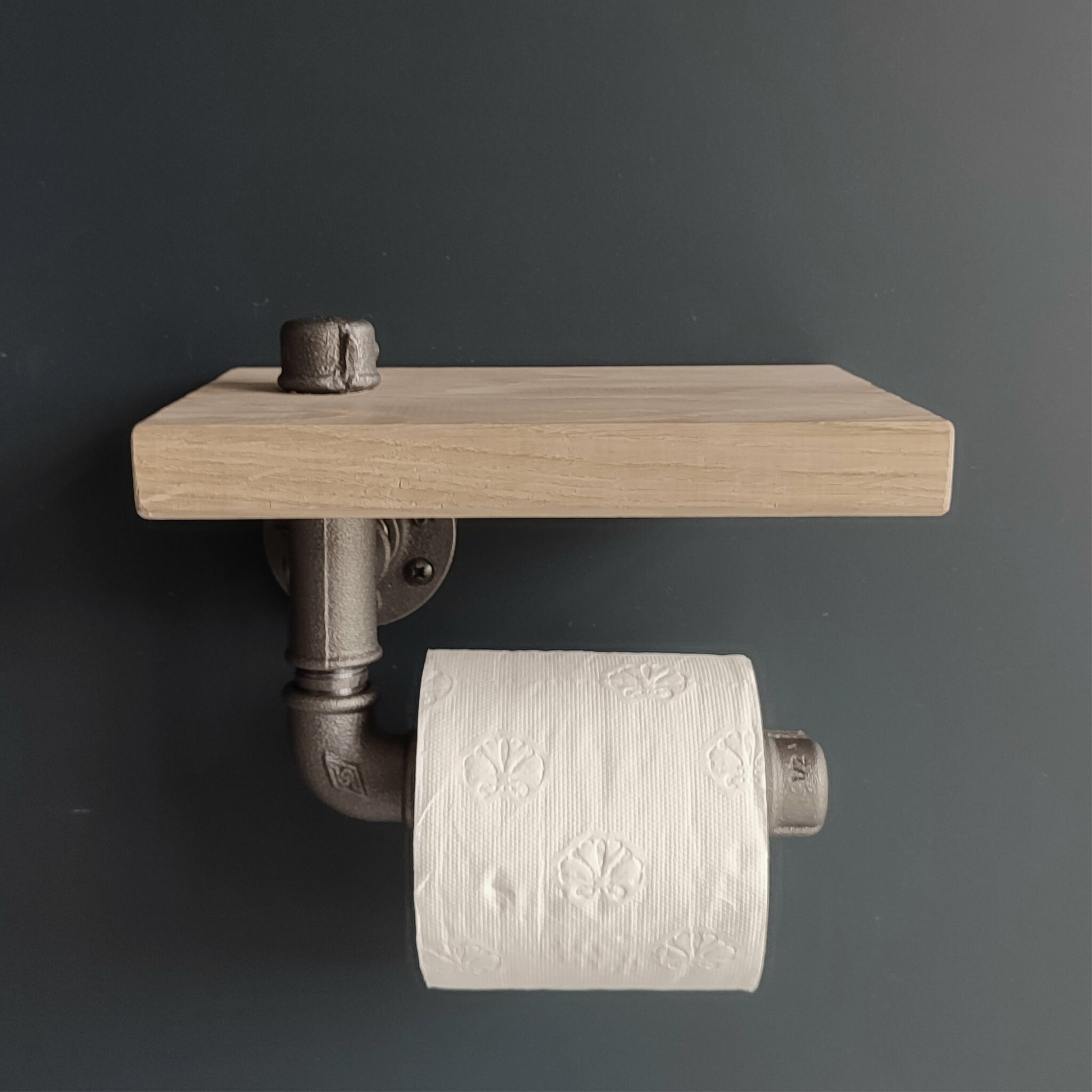 Porte rouleau WC bois – étagère chêne – MCFK0150000W1